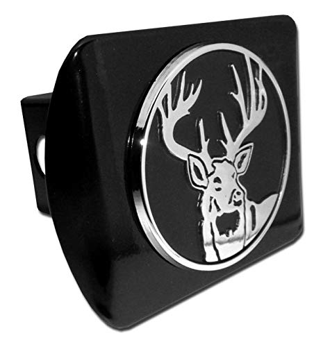 Elektroplate Buck Hunting Black Metal Hitch Cover