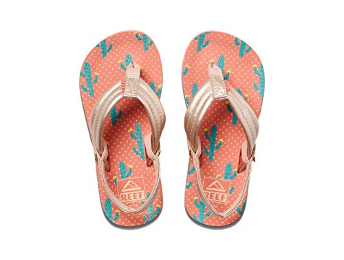 Reef Girls' Little AHI Flip Flop, Cactus, 11-12 M US Toddler