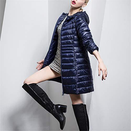 Dangyin Femmes Hiver Veste Bleu Léger Manteau Down Chaud Longue Femme Manteaux Ultra rOqwpdTr