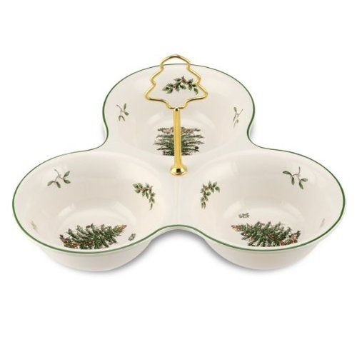 (Spode Christmas Tree 3-Section Server with Tree)