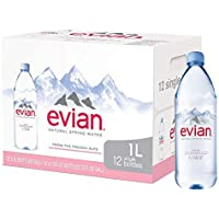Evian Natural Mineral Water, 1L, (Pack of 12)