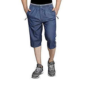 SAPPER Mens Denim Three-Fourth Capri
