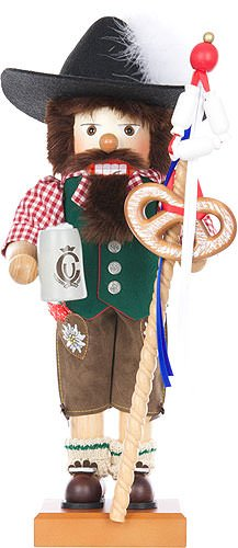 German Christmas Nutcracker - Oktoberfestler Limited - 48,5cm / 19 inch - Christian Ulbricht by Authentic German Erzgebirge Handcraft
