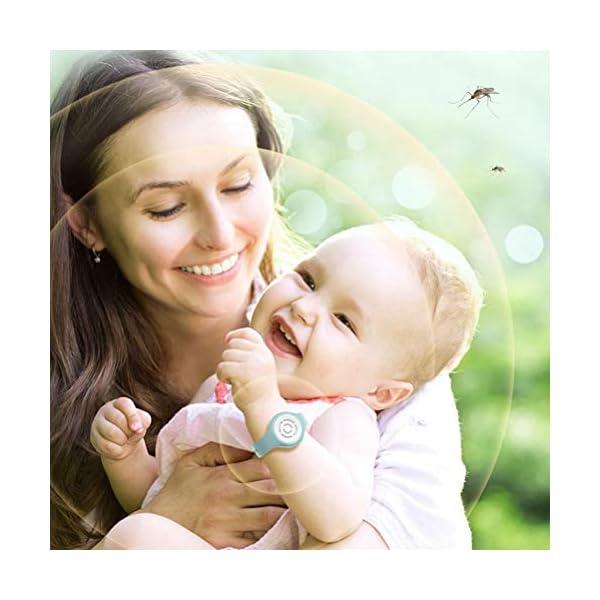 Suszian Repellente per zanzare Bracciale, Repellente per zanzare Bracciale in Silicone Anti Mosquito Bracciale… 2 spesavip