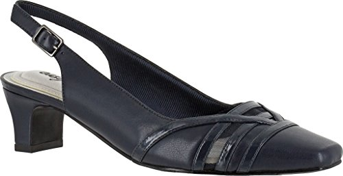 Easy Street Kristen Pumps Navy Patent 8.5WW