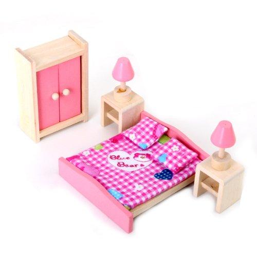 4 Set Dollhouse Furniture Kid Toy Bathroom Kid Room