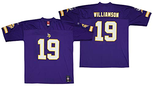 Reebok NFL Mens Minnesota Vikings Troy Williamson #19 Player Jersey, Purple, XX-Large ()