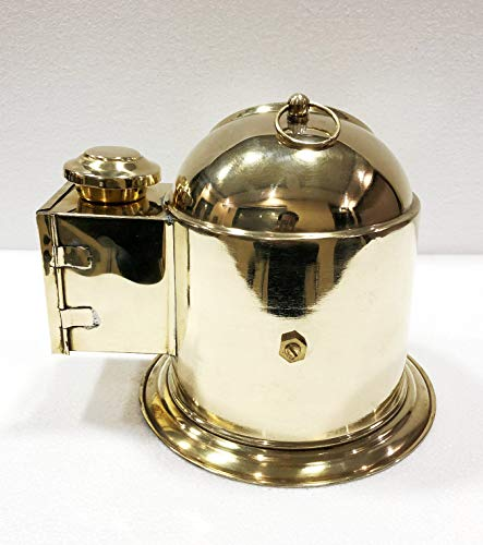 Antique Vintage Brass Floating Dial Binnacle Gimbled Compass Nautical Ship/Boat Oil Lamp by Antique (Image #5)