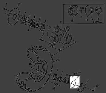 Polaris Scrambler ATV Front Hub Cap Cover O-Ring 5410470