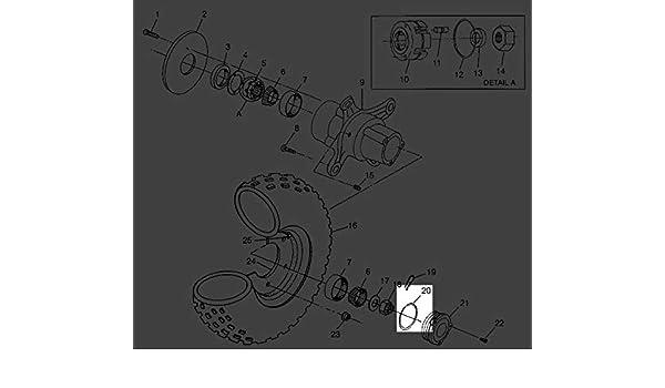 Polaris Sportsman Magnum ATV Front Hub Cap Cover O-Ring 5410470