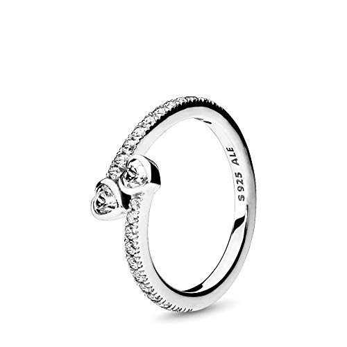 Two Hearts Ring - PANDORA - Two Sparkling Hearts Ring