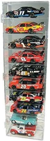 Unbranded 10 Car Diecast Display Case 1/24 Scale Diecast NASCAR Model Cars