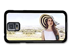 AMAF ? Accessories Lana Del Rey Hat Portrait Singer Popstar case for Samsung Galaxy S5