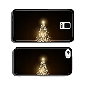 Christmas tree made with gold sparkles cell phone cover case Samsung S6
