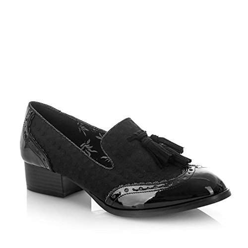 Ruby Shoo Women's Tara Low Heel Tassled Loafers Black