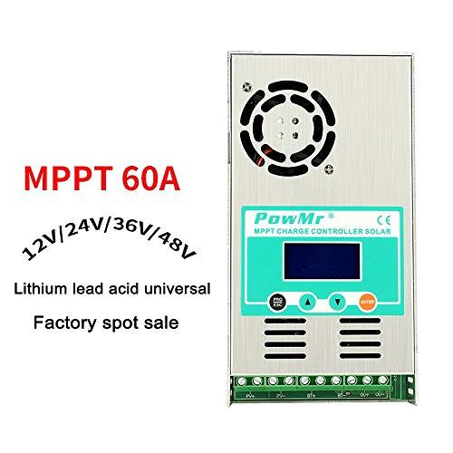MPPT 60A Solar Charge Controller 48V 36V 24V 12V Auto Max 190V DC Input Solar Regulator with Backlight LCD