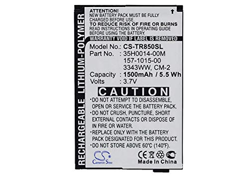 - Cameron Sino 1500mAh / 5.55Wh Li-Polymer High-Capacity Replacement Batteries for Palm Treo 850, fits Palm 157-10105-00, 3343WW, 35H0014-00M, cm-2