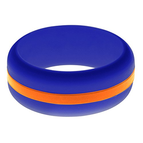 (FLEX Ring - Womens Mens Blue Silicone Ring - Changeable Color Bands - Many Colors - Safe, Durable, Everyday Wear Wedding Band - 1 Ring - Sizes 4-16)