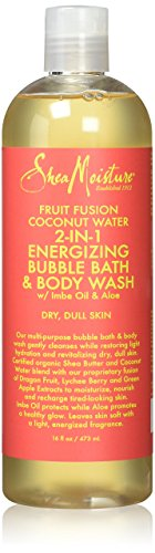 Shea Moisture Fruit Fusion Coconut Body Wash Liquid, 16 (Bath Gel Moisture)