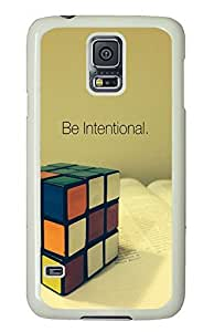 Samsung Galaxy S5 Be Intentional PC Custom Samsung Galaxy S5 Case Cover White