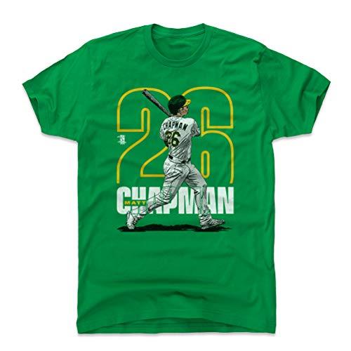 500 LEVEL Matt Chapman Cotton Shirt Large Kelly Green - Oakland Baseball Men's Apparel - Matt Chapman Outline Y WHT