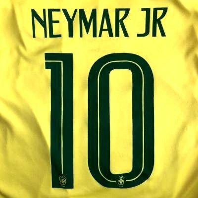 六分儀世界記録のギネスブックフォーム?代引可?大人用 A012 ブラジル NEYMAR JR*10 ネイマール 黄 18 ゲームシャツ パンツ付