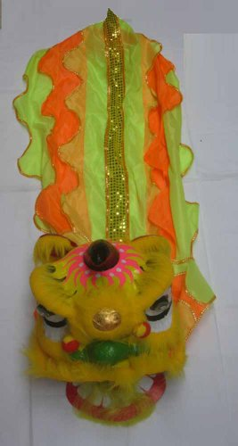 Chinese New Year Lion Dance Set for Children Gold