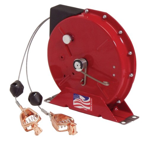 Reelcraft G 3050 Y Spring Retractable Grounding Reel, 50', Cable and Y-Clip Grounding Reel
