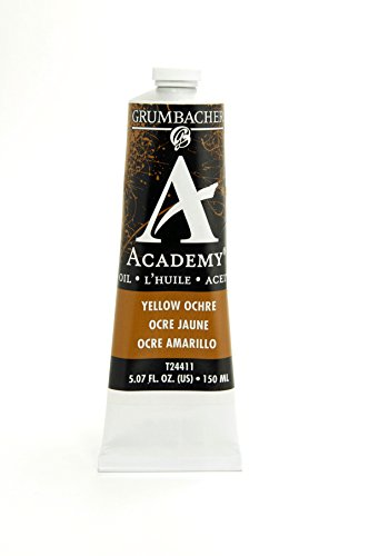 Academy Oil Color Paint - Grumbacher Academy Oil Paint, 150 ml/5.07 oz, Yellow Ochre