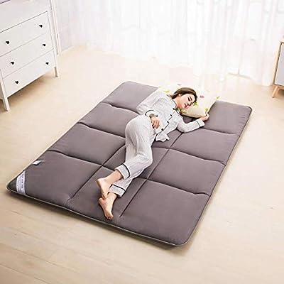 LINLIN Esponja Suave Tatami Acolchado termostato Plegable colchón del Piso Almohadilla para Dormir casa Cama Pinzas Extra Grandes,Gray,90 * 195CM