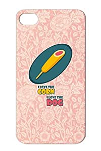 Navy Dirtproof Corndog Food Love Funny Dog Miscellaneous Corn I A Case Cover For Iphone 4/4s TPU