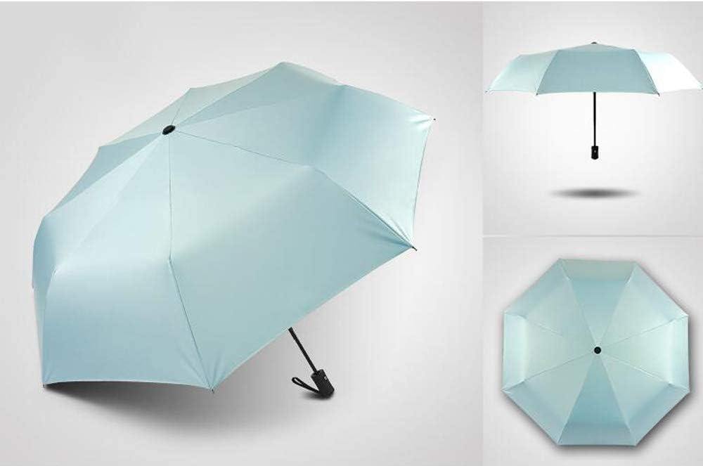 Color : Pink Mbd Automatic Umbrella Female Folding rain Dual-use Small Fresh Goddess Sun Umbrella Sunscreen UV Protection