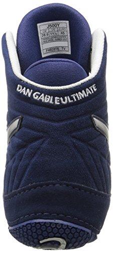 Asics Mens Dan Gable Ultimate 4 Wrestling Shoe Estate Blu / Argento