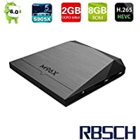 RBSCH M96X Smart Tv Box Android 6.0 Amlogic S905X Quad Core 64bit 2GB / 8GB 4K HD 100Mbps LAN Wifi Mini Home player