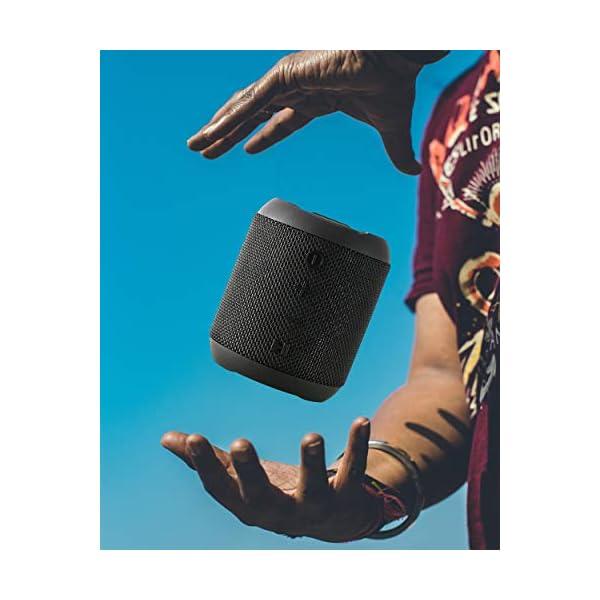 Enceinte Bluetooth Portable, 20W Enceinte Bluetooth Waterproof Audio HD, TWS Haut Parleur Bluetooth 5.0 Pilote Double avec Son 360°, 16 Heures Autonomie Mains Libres Téléphone Support FM, AUX, TF-Noir 7
