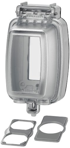 Leviton 5980-UCL Vertical While-in-Use Cover for GFCI/Decora Duplex and Single Outlet, (Heavy Duty Duplex Outlet)