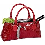 Primeware Textured Insulated Wine Bottle Clutch Lunch Bag