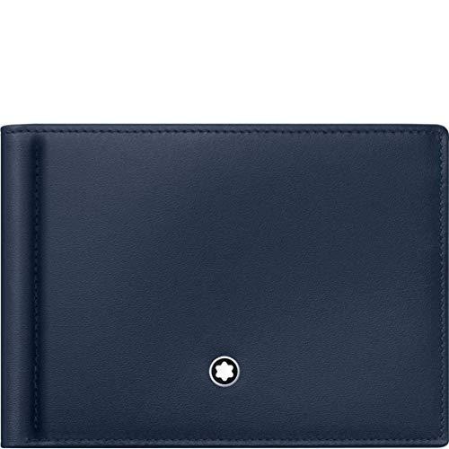 Mont Blanc Meisterstuck Wallet - Montblanc Meisterstuck Men's Leather Wallet 6cc with Money Clip 114548