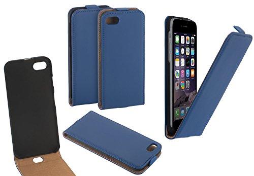 Yayago Étui à rabat en cuir pour Apple iPhone 7, Couleur bleu