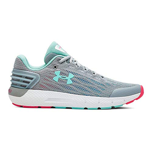 Under Armour Girls' Grade School Charged Rogue Sneaker, Mod Gray (101)/Mod Gray, 5.5