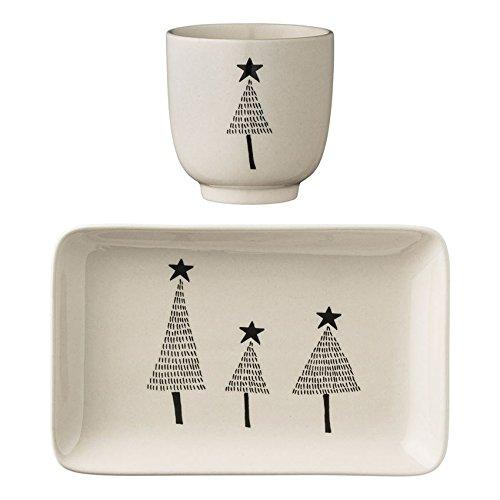 Snack Plate & Cup set Tree Bloomingville