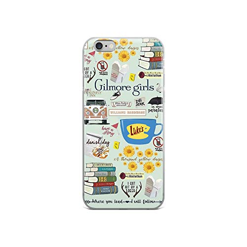 (Gilmore Girls Cliparts iPhone 6/6s Case - Inspired by Gilmore Girls TV Series, Stars Hollow, Mother's Day, Father's Day Present, Gift Idea for Die-Hard Fans)