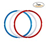 Appliances : Silicone Sealing Ring for Instant Pot Accessories , Fits 5 or 6 Quart Models, Red, Blue and Common Transparent White, Sweet and Savory Edition, Pack of 3