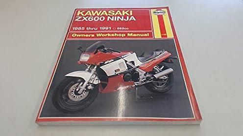 kawasaki zx600 ninja owner s workshop manual hayne s automotive rh amazon com 2005 Kawasaki ZX600 2001 Ninja ZX600E