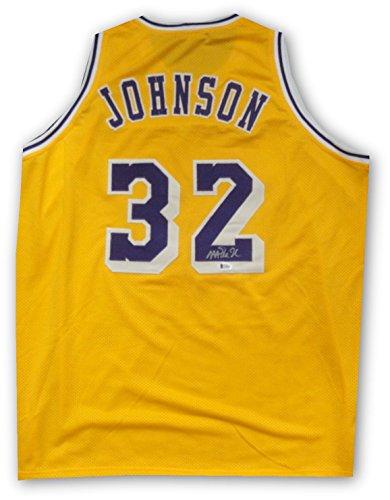 Magic Johnson Hand Signed Autographed Home Lakers Basketball Jersey Beckett COA