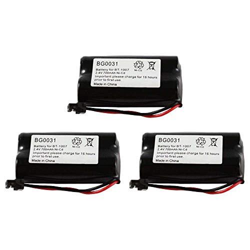 Cbc 206 Cordless Phone Battery - WalR Rechargeable Cordless Phone Battery Ni-CD, 3 Pack, for GE 1833916 26602 TL26602 TL-26602 GP GP60AAS2BMX Interstate Batteries ATEL0035 TEL0035 Lenmar CBC206 CBC-206 NABC 721040000