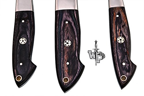WORLD POINTS CUSTOM MADE DAMASCUS BLADE/KITCHEN CHEF KNIVES SET-3-PIECE (Black Wood) by World Points (Image #3)