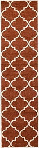 - Unique Loom Trellis Collection Moroccan Lattice Rust Red Runner Rug (2' 7 x 10' 0)