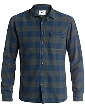 Mens The Indigo Check - Long Sleeve Shirt Long Sleeve Shirt
