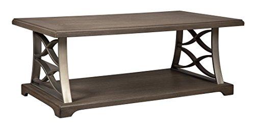 Ashley Furniture Signature Design - Baymore Casual Rectangular Cocktail Table - Grayish (Ashley Furniture Brush)